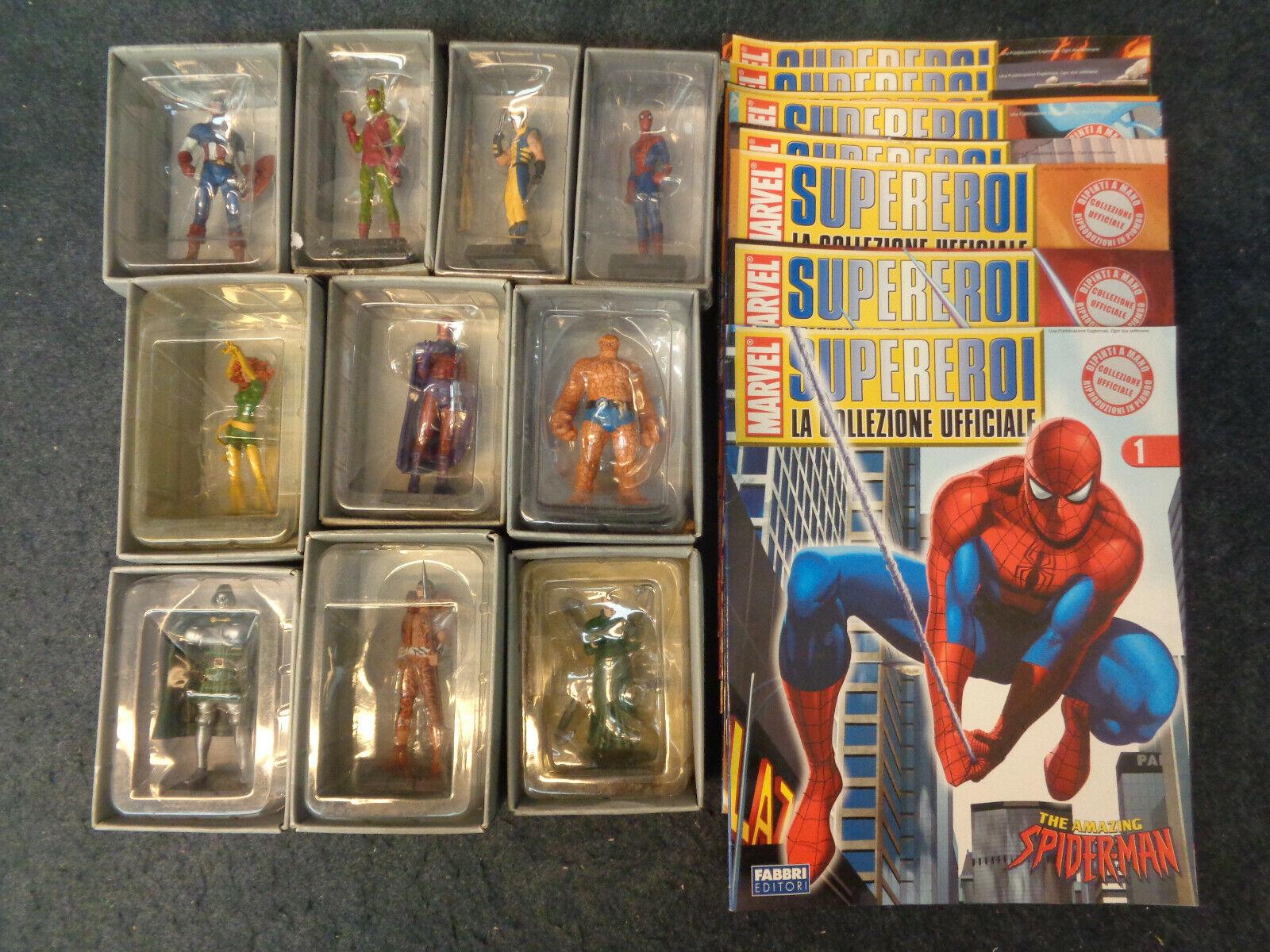 Marvel Superheroes Official Collection 1 10 missing 8 + 23 Eaglemoss-m17-FLG
