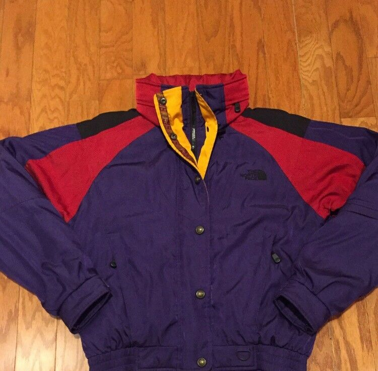 Excellent Vintage Women's The North Face Stow Away Hooded Parka sz 8 (M)