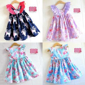 8397a85ef Image is loading Flower-Girl-Princess-Dress-Toddler-Baby-Wedding-Fancy-