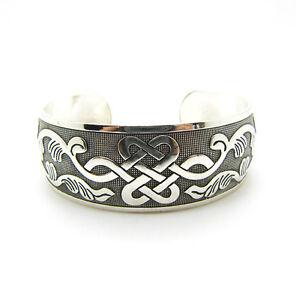 New-Tibetan-Tibet-silver-Totem-Bangle-Cuff-Bracelet-WH