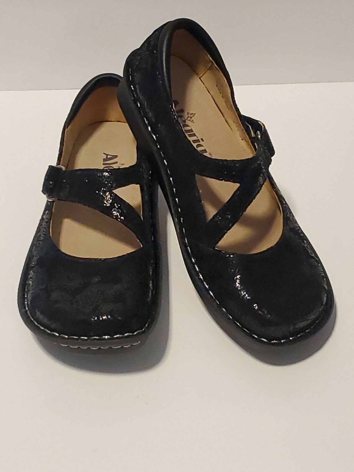 Alegria by PG Lite Leather Mary Jane Comfort Shoes- Size 36 EU, 6-6.5 US