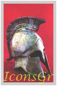 Ancient Greek Bronze Museum Replica Vintage Spartan Officer Battle Helmet 1387