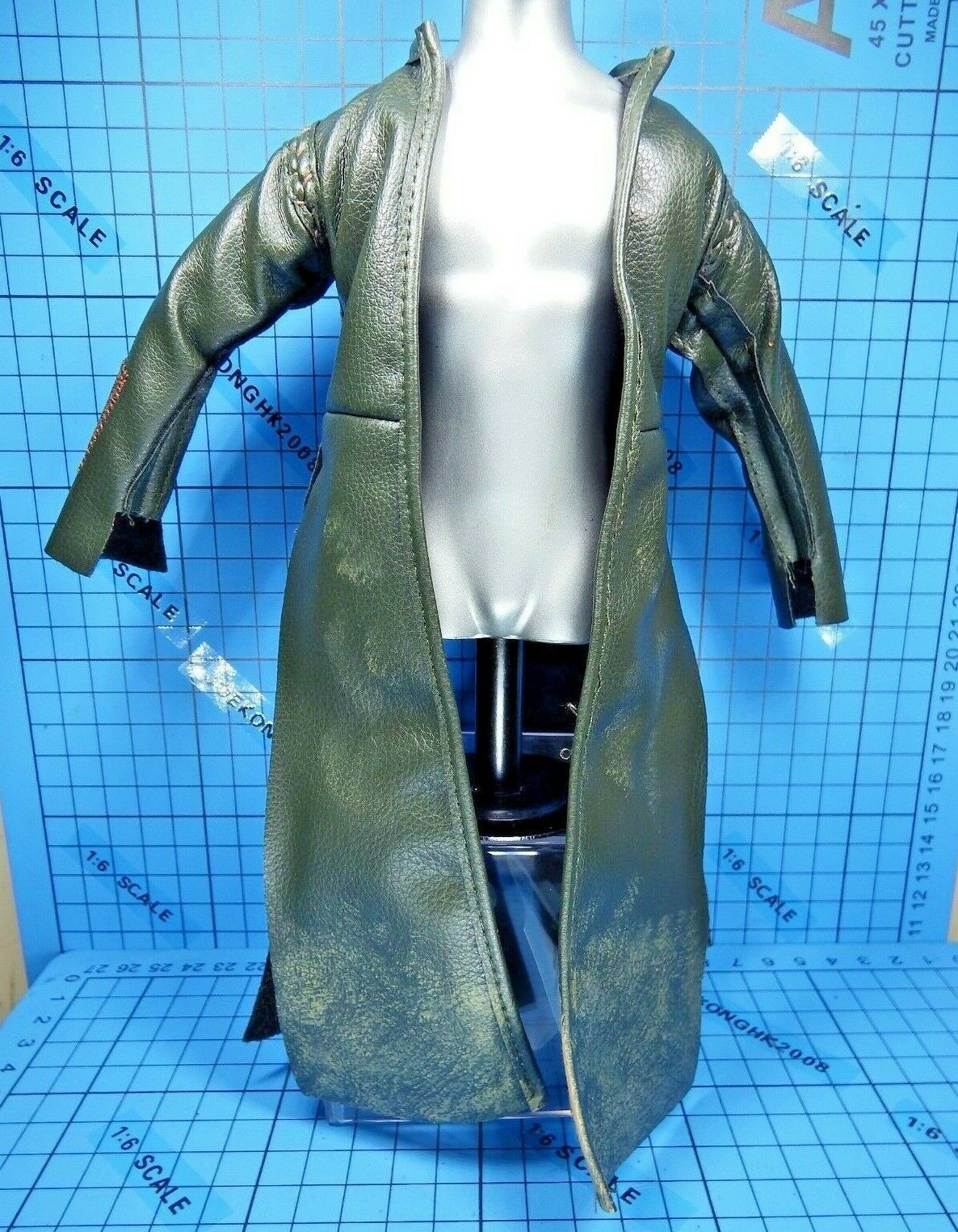 Sideshow 1 6 Lord Of The The The Rings Aragorn Strider Ranger figure - green Long Duster 8e16cb