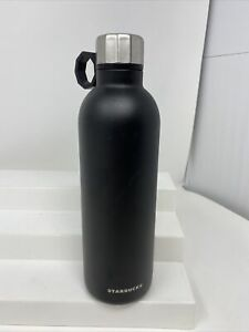Starbucks 20 Oz Water Bottle Matte Black Rubber Hook Stainless Steel Thermos