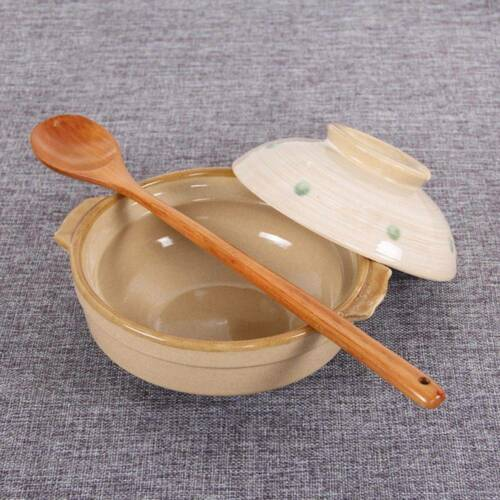 En bois cuillères Large Long Handled Spoon Kids cuiller Bois Riz Soupe Dessert Spoon