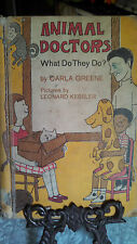 Vintage 1967 An I Can Read Book, Animal Doctors, What Do They Do ?