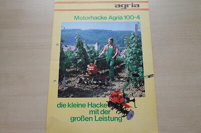 Zielsetzung 163585 Automobilia Agria Motorhacke 100-4 Prospekt 07/1981