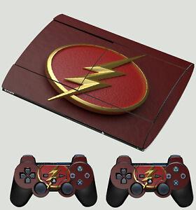 Enthousiaste Playstation Ps3 Super Fin Flash Logo 01 Super Héro Lightning Autocollant