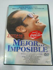 Mejor Imposible Jack Nicholson Helen Hunt - DVD Region 2 Español Ingles - Am