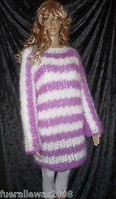 handgestrickt Pullover Tunika Langhaar Mohair exclusiv L~XL hand knitted sweater