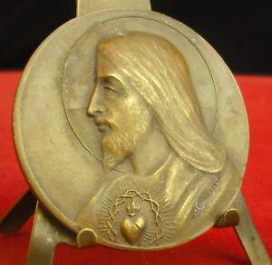 * Rare Médaille Ville De Marseille Sacré Coeur De Jésus A J Corbierre Medal 勋章