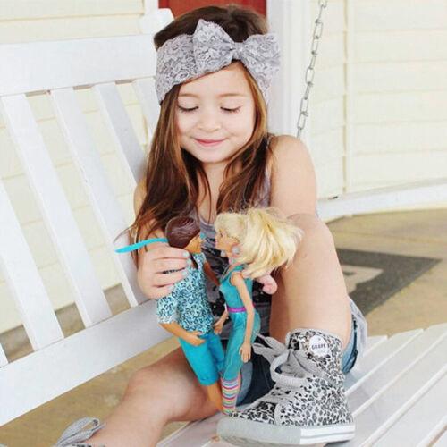 Baby Girl Headband Soft Lace Bow Elastic Band Hair Band Headwrap Headwear Kids