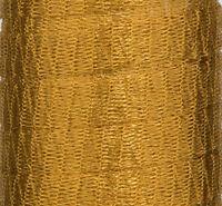 1 METRE DARK GOLD METALLIC WIRE MESH RIBBON FROM MENONI ITALY, LIKE WIRELACE