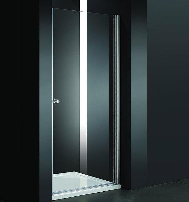 Design Duschabtrenung Nischenabtrennung Duschtür inkl.Duschtasse 80cm PP1-80