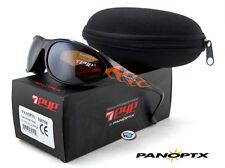 NEW 7eye Panoptx DIABLO POLARIZED Sunglasses | Flames / SV Polar Copper Lens