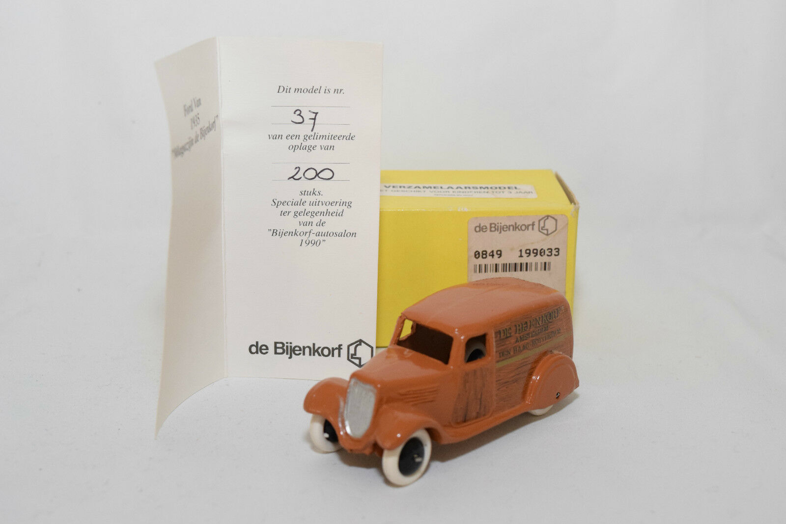 P DINKY TOYS copy DELIVERY VAN DE bijenkorf MINT BOXED RARE RARO only 200 MADE