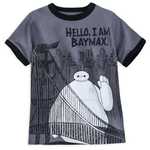 Disney Store Big Hero 6 Baymax Ringer T Shirt Tee Boys Size 2//3 4 NWT