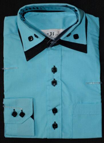 Enfants Chemise Garçon fédéral Chemise Fête Costume Manches Longues 92-164