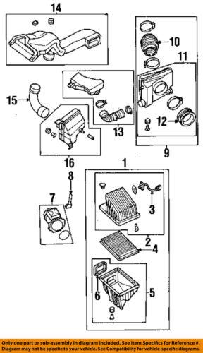 NISSAN OEM Air Cleaner Intake-Resonator Duct Tube Hose 1657631U17