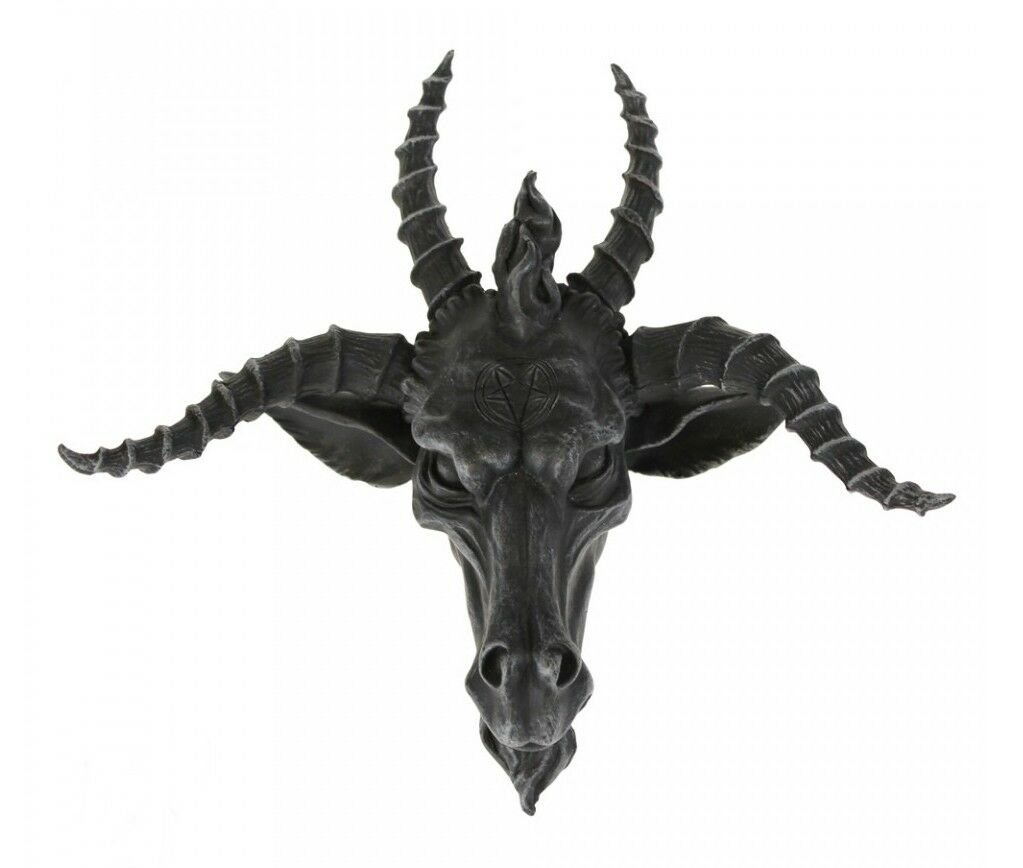Black Baphomet Lucifer Supernatural Goat Head Sabbath Occult Wall Hanging Decor