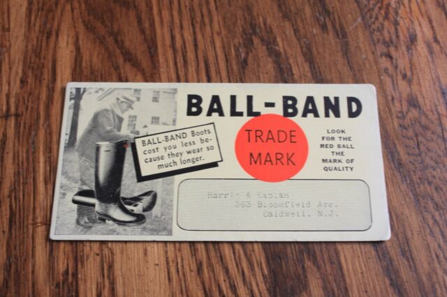 Vintage Advertising  Ink Blotter Card > Ball-Band Shoe's and Boot