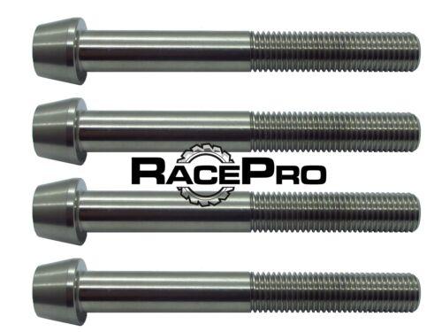 4x RacePro Natural Tapered Titanium Caliper Bolt for Kawasaki ZX12R 2005
