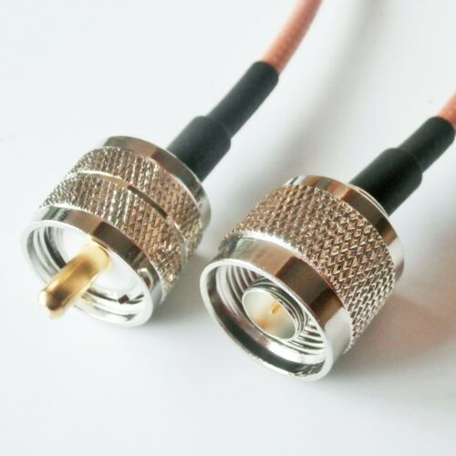 N male to UHF PL259 plug Crimp Jumper Pigtail Lot Double shield RG142 Cable