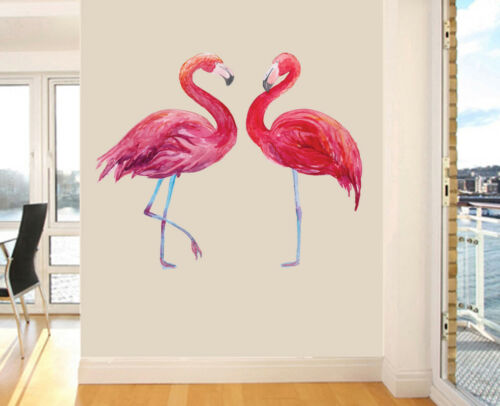 Flamingo Couple Design Wall Art Vinyl Stickers African Colourful Decal Mural