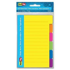 Redi-tag-4x6-Appiccicoso-a-Righe-Compasso-Notes-Autoadesivo-Rimovibile-Misti