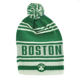 NBA-Boston-Celtics-Winter-Knit-Cap-Hat-Beanie-Pom-Pom-White-Green-FREESHIP