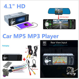 "4.1/"" 12V Car MP5 Player Bluetooth TFT Screen Stereo Radio+Steering Wheel Remote"