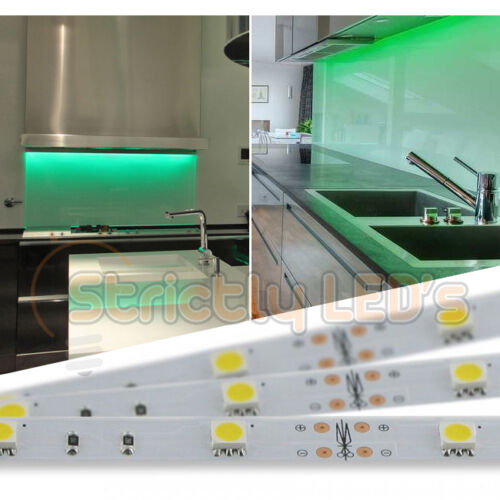 GREEN LED STRIP LIGHTS 5050 LED TAPE STRIPS KITCHEN UNDER CABINETS HOMES CEILING