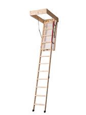 New DJM Timber Eco Folding Wooden Loft Attic Ladder Hatch & Frame 1150 x 570