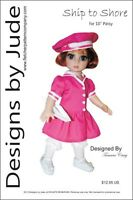 Ship To Shore Doll Clothes Sewing Pattern 10 Patsy & Ann Estelle Dolls Tonner