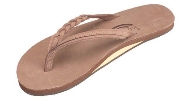 femmes RAINBOW LEATHER 301ALTSB Flirty Braidy Dark marron Sandals All Tailles