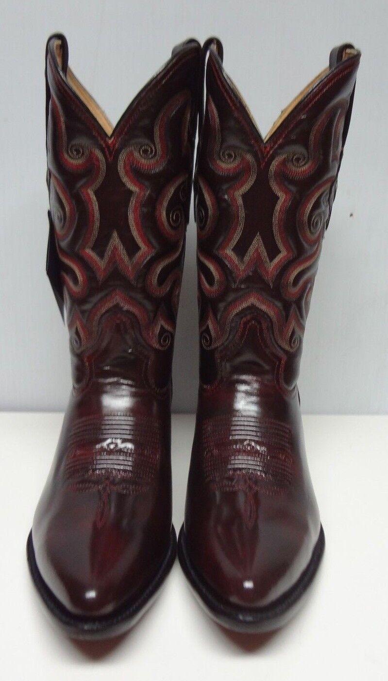Men's cowboy stivali original genuine camaleon leather C219