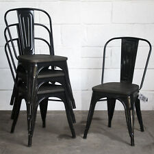 Item 2 Tolix Style Vintage Metal Dining Bistro Chairs Garden Kitchen Cafe