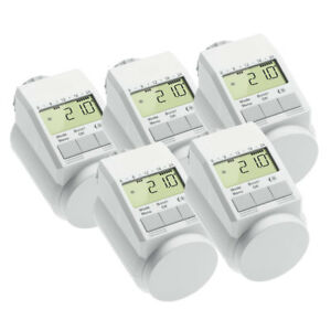 eqiva model l elektronik heizk rper thermostat mit boost funktion 5er set 4023392224416 ebay. Black Bedroom Furniture Sets. Home Design Ideas