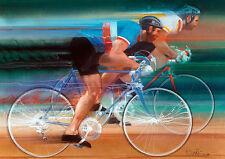 Bicycling Visions of Gold Print - Los Angeles 1984 Olympics  Robert Bob Peak