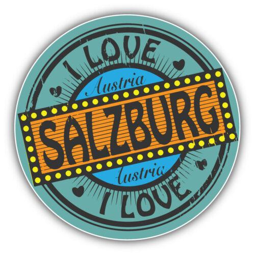 "I Love Salzburg City Austria Label Car Bumper Sticker Decal /""SIZES/"""