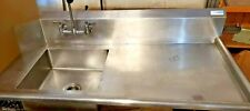 60 Dish Soil Table Pre Rinse Facuet Dishwasher Sink Used