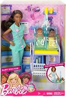 Baby Doctor Playset, Pretend Toys African American Doll Medical Care Station