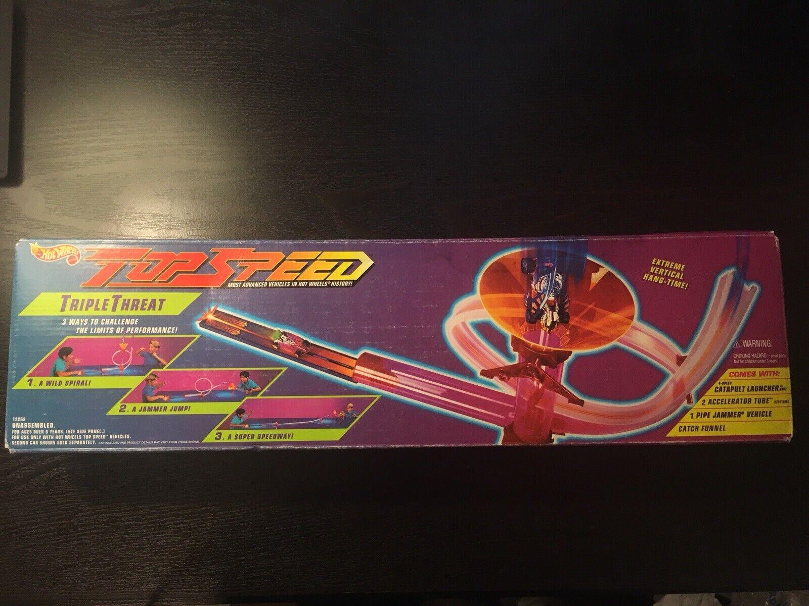 Hot Wheels de Mattel súperior velocidad triple amenaza Conjunto en Caja Original Completo