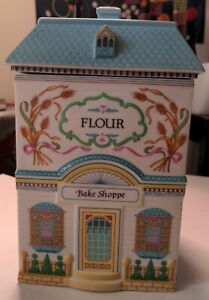 The Lenox Village Canisters Flour 1990 Porcelain Bake Shoppe House