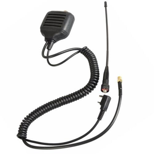 New Dual Band Antenna Speaker Mic Shoulder for Walkie Talkie BAOFENG Ham Radio
