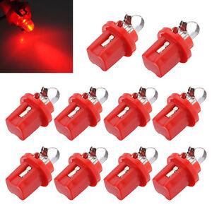 10x-AMPOULE-LED-COMPTEUR-TABLEAU-DE-BORD-B8-5D-T5-avec-support-ROUGE-TUNING-WT