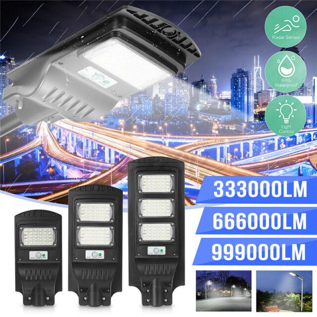 999000LM 30/60/90W Solar Street Light Motion Sensor Garden Yard Wall  Y