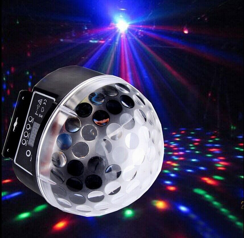 6 disco dj stage lighting rgb crystal magic ball effect light dmx512
