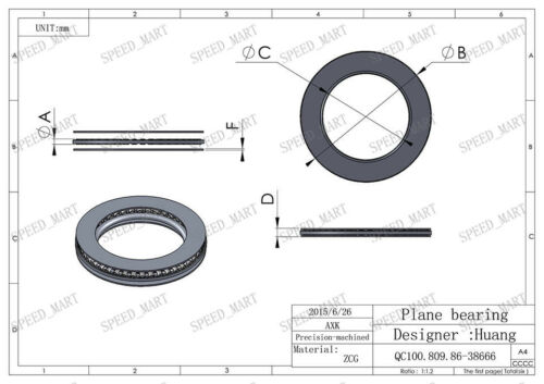 10 PCS AXK1730 Thrust Needle Roller Bearing With Two Washers 17mm x 30mm x 2mm