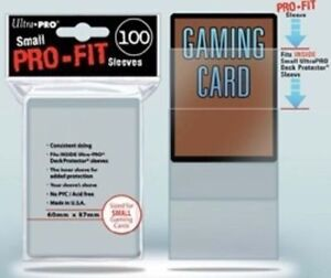 Ultra Pro Card Sleeves Pro-fit Small 60 X 87 100ct Yugioh